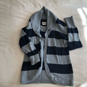 Converse grey and blue striped sweater